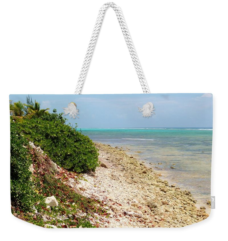 Color Weekender Tote Bag featuring the photograph Breakers East Shore by Amar Sheow