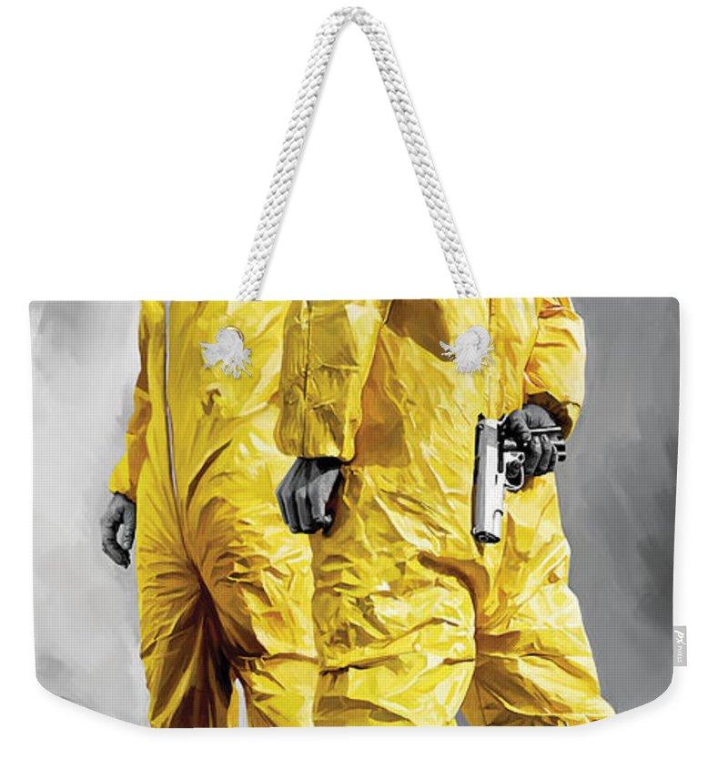 Breaking Bad Paintings Weekender Tote Bag featuring the painting Breaking Bad Artwork by Sheraz A
