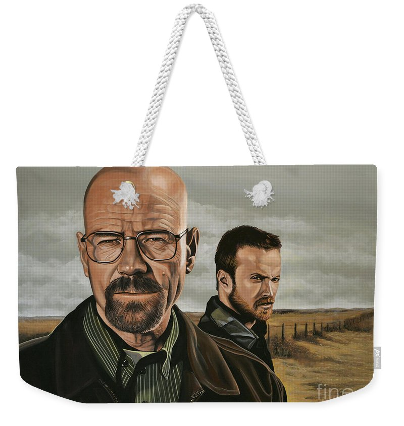 Breaking Bad Weekender Tote Bag featuring the painting Breaking Bad by Paul Meijering
