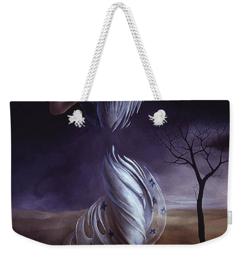 Outside Weekender Tote Bag featuring the painting Breaking Through by Jane Whiting Chrzanoska