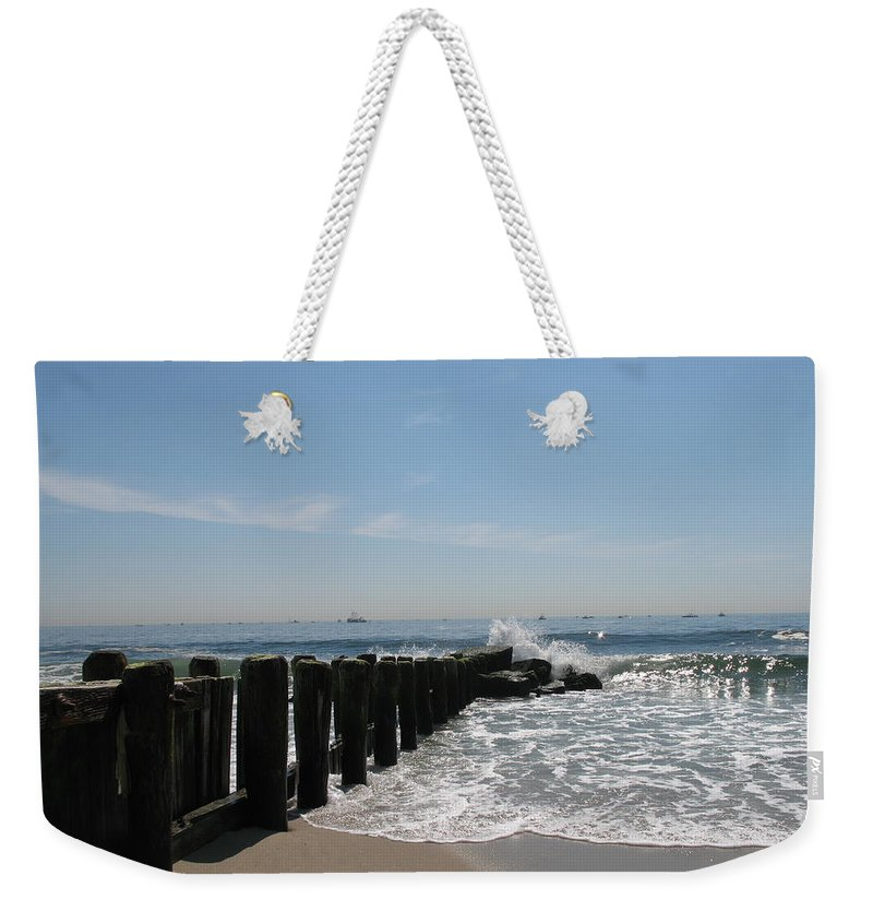 Breakwater Weekender Tote Bag featuring the photograph Breakwater II by Christiane Schulze Art And Photography