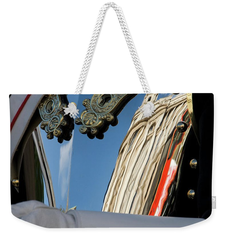 London Weekender Tote Bag featuring the photograph Breastplate by Rick Piper Photography