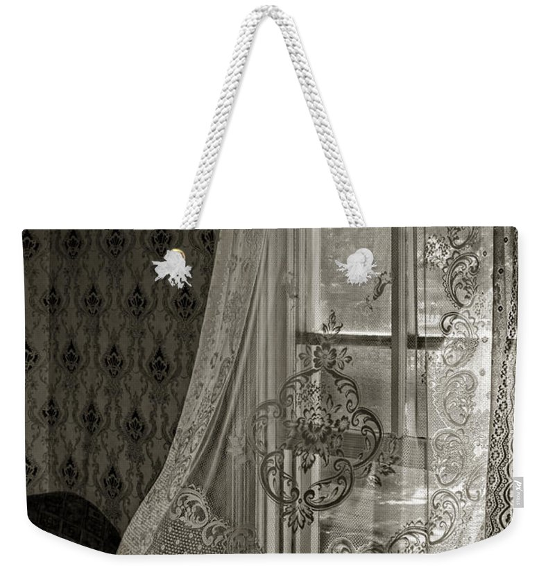 Curtain Weekender Tote Bag featuring the photograph Breeze by Nikolyn McDonald