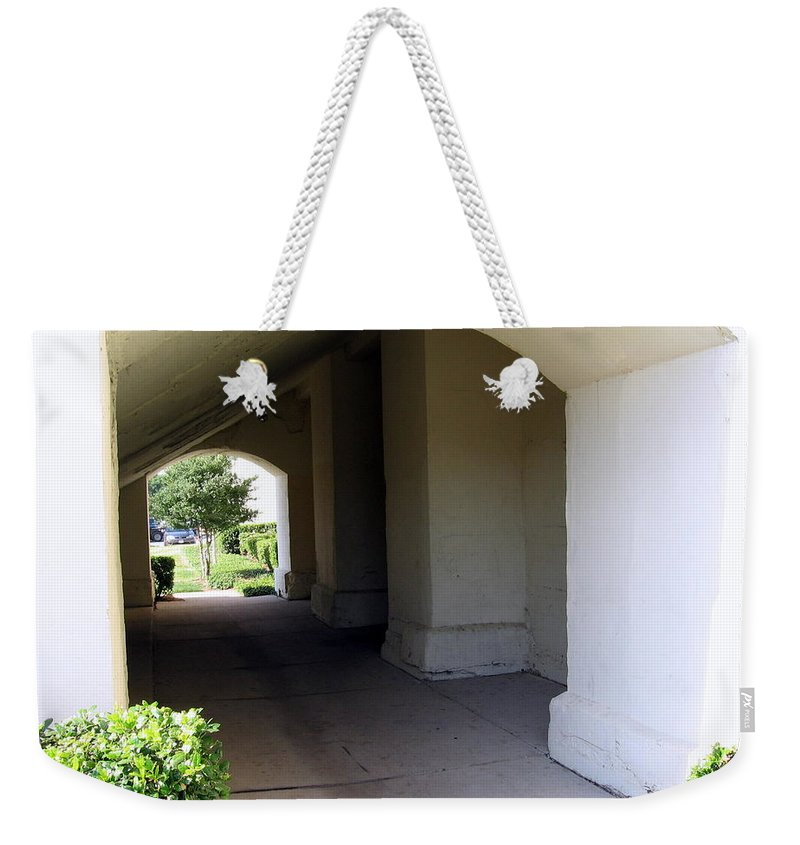 Porch Weekender Tote Bag featuring the photograph Breeze Way by Amy Hosp