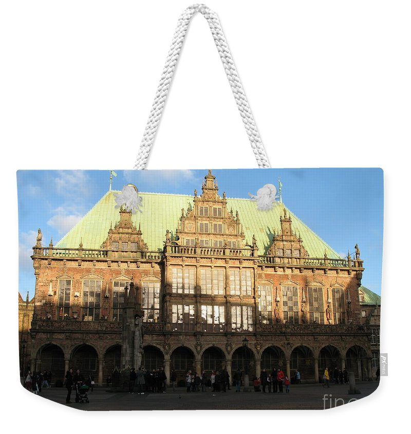 Cityhall Weekender Tote Bag featuring the photograph Bremen Town Hall Germany by Christiane Schulze Art And Photography
