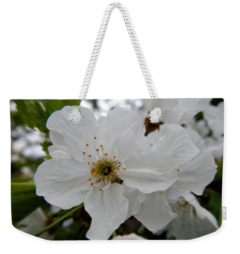 White Blossom Weekender Tote Bag featuring the photograph Bride by Loreta Mickiene