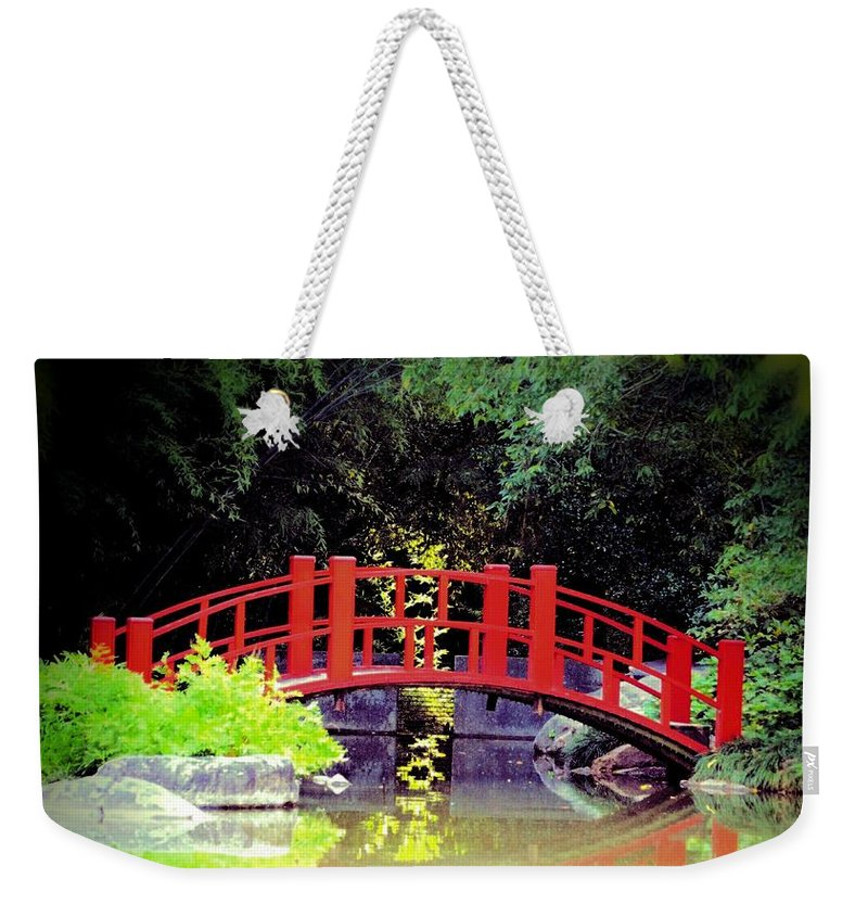 Bridge Front Weekender Tote Bag featuring the photograph Bridge Front by Maria Urso