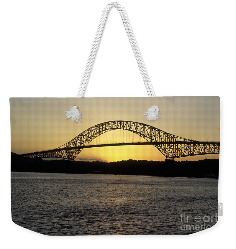 Panama Weekender Tote Bag featuring the photograph Bridge Of The Americas Panama by James Brunker