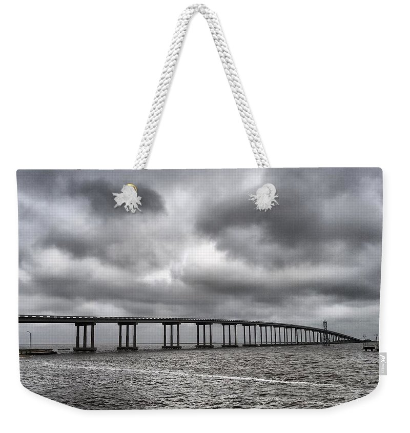 Bridge Over Water Weekender Tote Bag featuring the photograph Bridge Over Water by Dan Sproul