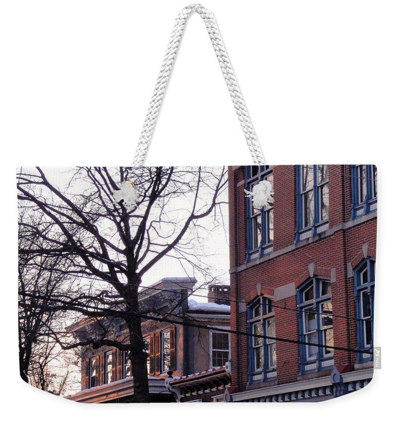 Bridge Weekender Tote Bag featuring the photograph Bridge Street by Christopher Plummer