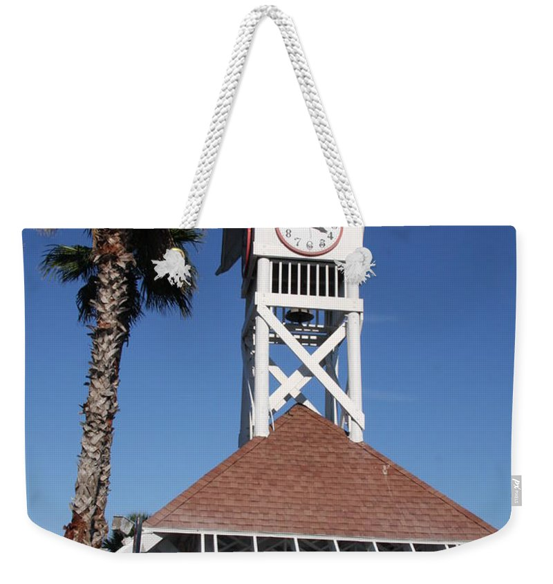Pier Weekender Tote Bag featuring the photograph Bridge Street Pier And Clocktower by Christiane Schulze Art And Photography