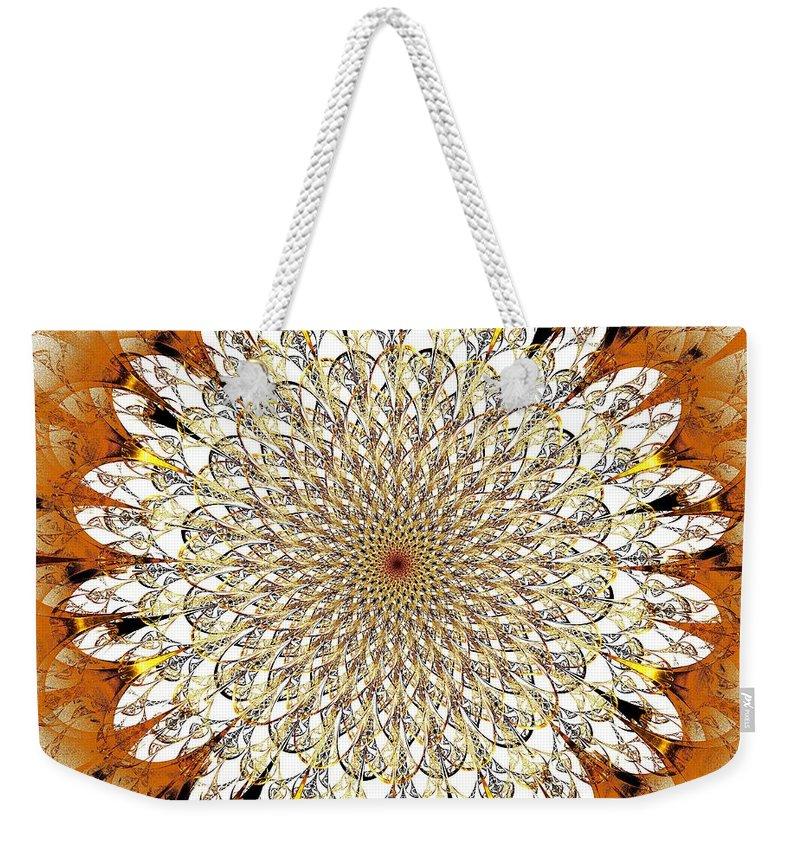 Plant Weekender Tote Bag featuring the digital art Bright Flower by Anastasiya Malakhova