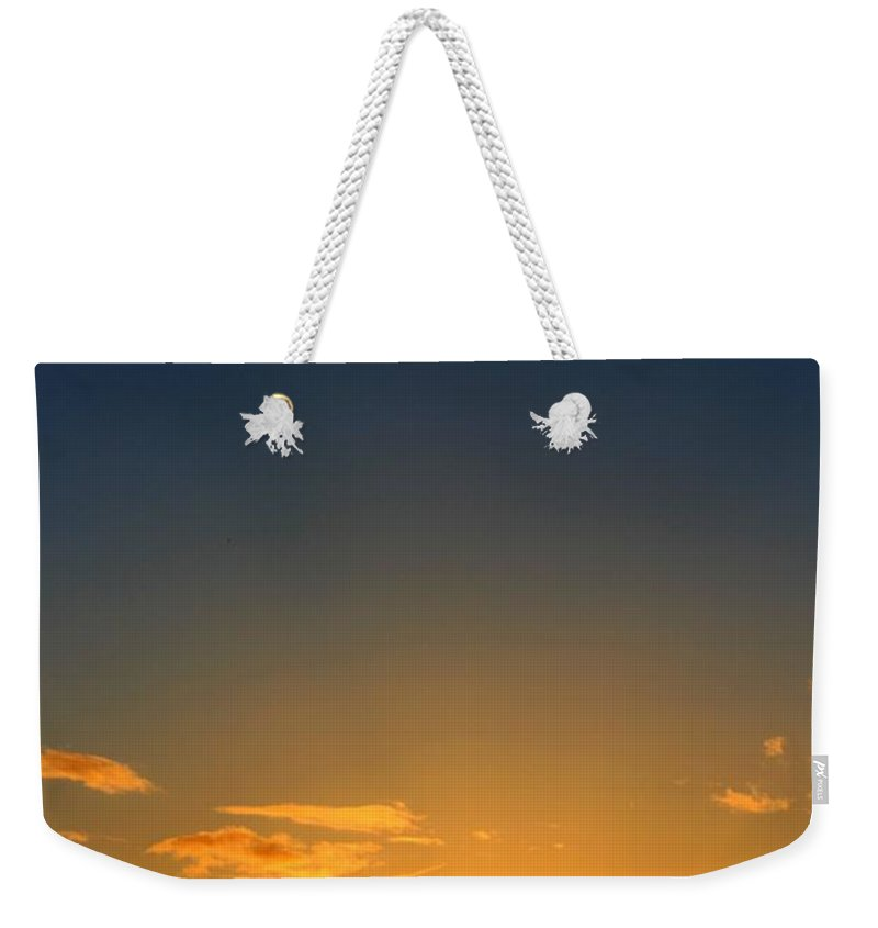 Sunset Weekender Tote Bag featuring the photograph Bright Sunset by Vicki Spindler