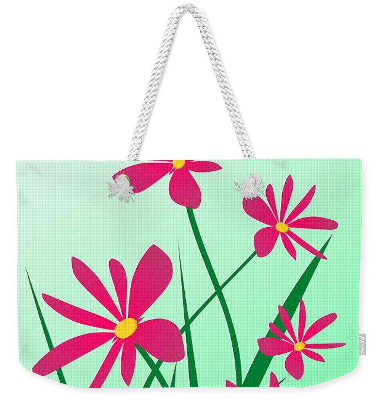 Graphic Weekender Tote Bag featuring the digital art Brighten Your Day by Anastasiya Malakhova