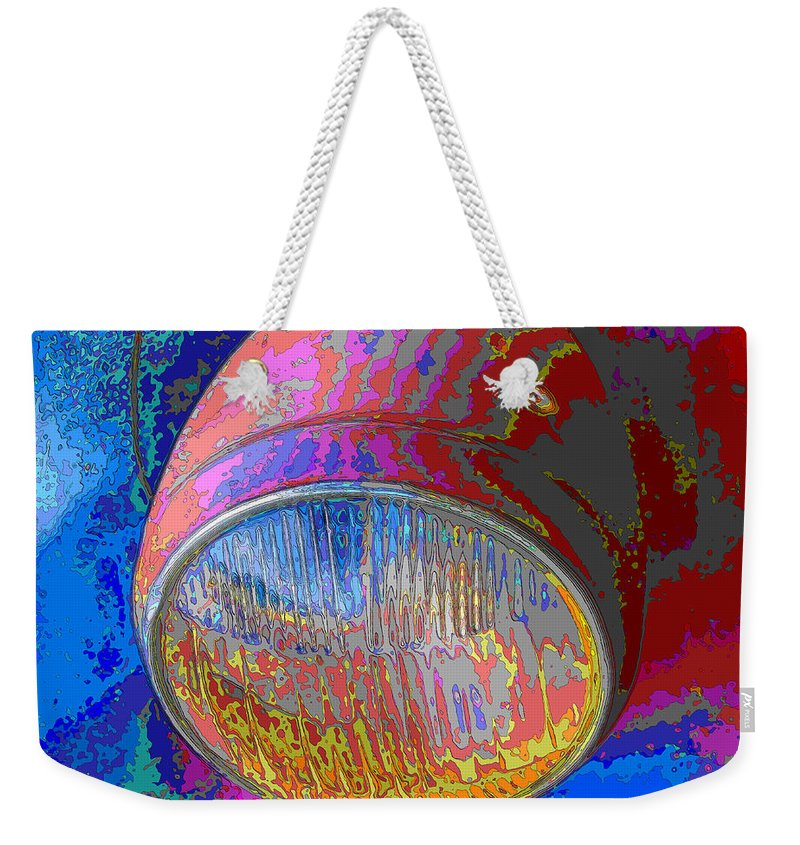 Headlight Weekender Tote Bag featuring the photograph Brilliant Headlight by C H Apperson