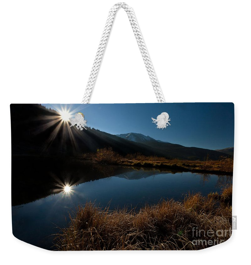 Landscape Weekender Tote Bag featuring the photograph Brilliant Sunrise by Steven Reed