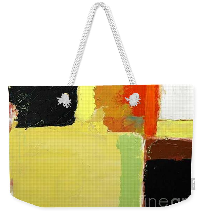 Landscape Weekender Tote Bag featuring the painting Brisbane by Allan P Friedlander