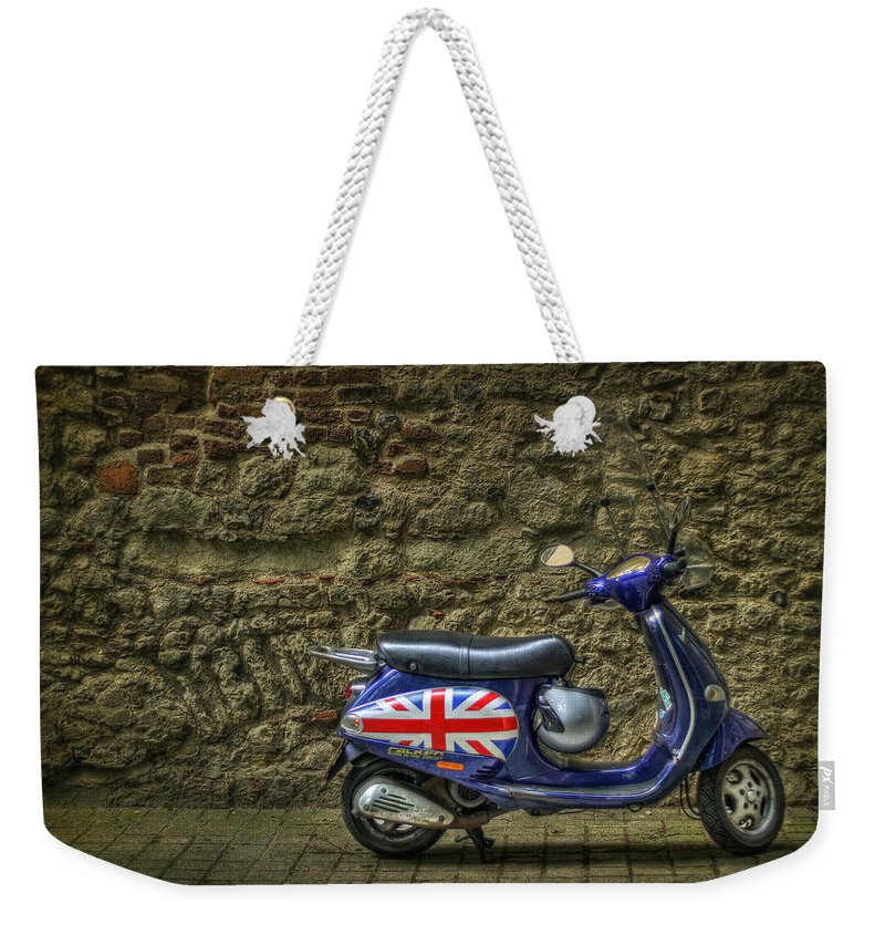 London Weekender Tote Bag featuring the photograph British At Heart by Evelina Kremsdorf