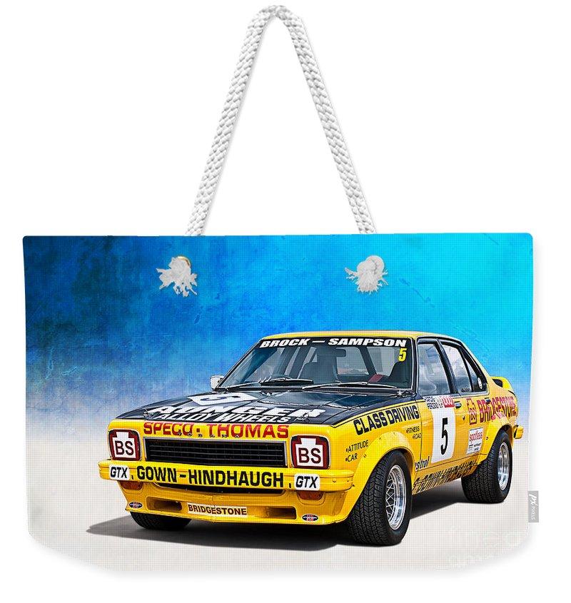 Peter Brock Weekender Tote Bag featuring the photograph Brock Sampson L34 Torana by Stuart Row