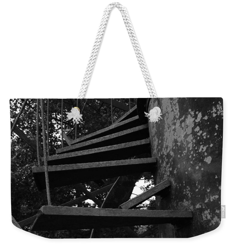 Stairs Weekender Tote Bag featuring the photograph Broken Stairs by Jennifer Ancker