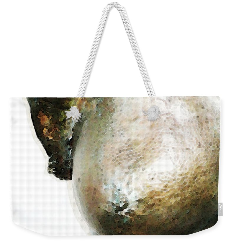 Nude Weekender Tote Bag featuring the painting Bronze Bust 1 by Sharon Cummings