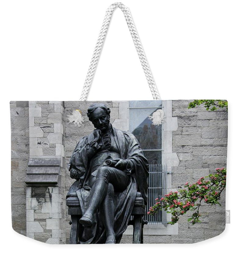 Statue Benjamin Lee Guinness Weekender Tote Bag featuring the photograph Bronze Statue Of Sir Benjamin Lee Guinness by Christiane Schulze Art And Photography