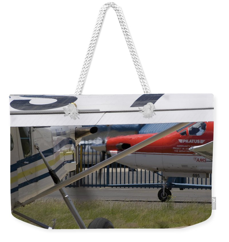 Pilatus Pc 12 Weekender Tote Bag featuring the photograph Brother And Sister by Paul Job