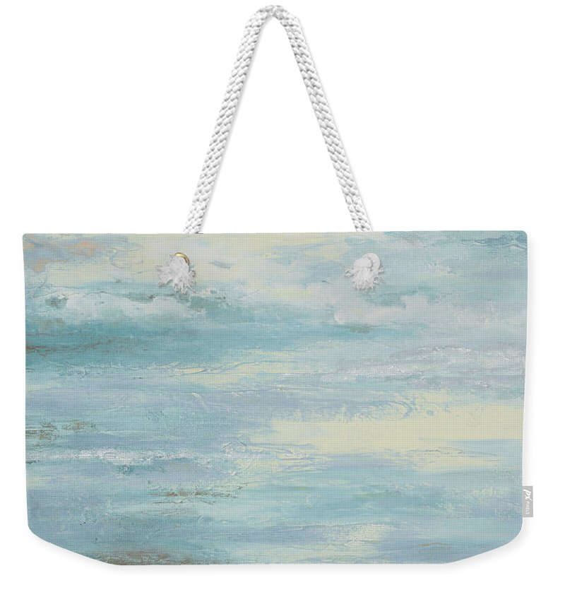 Brown Weekender Tote Bag featuring the painting Brown Misty Morning by Patricia Pinto