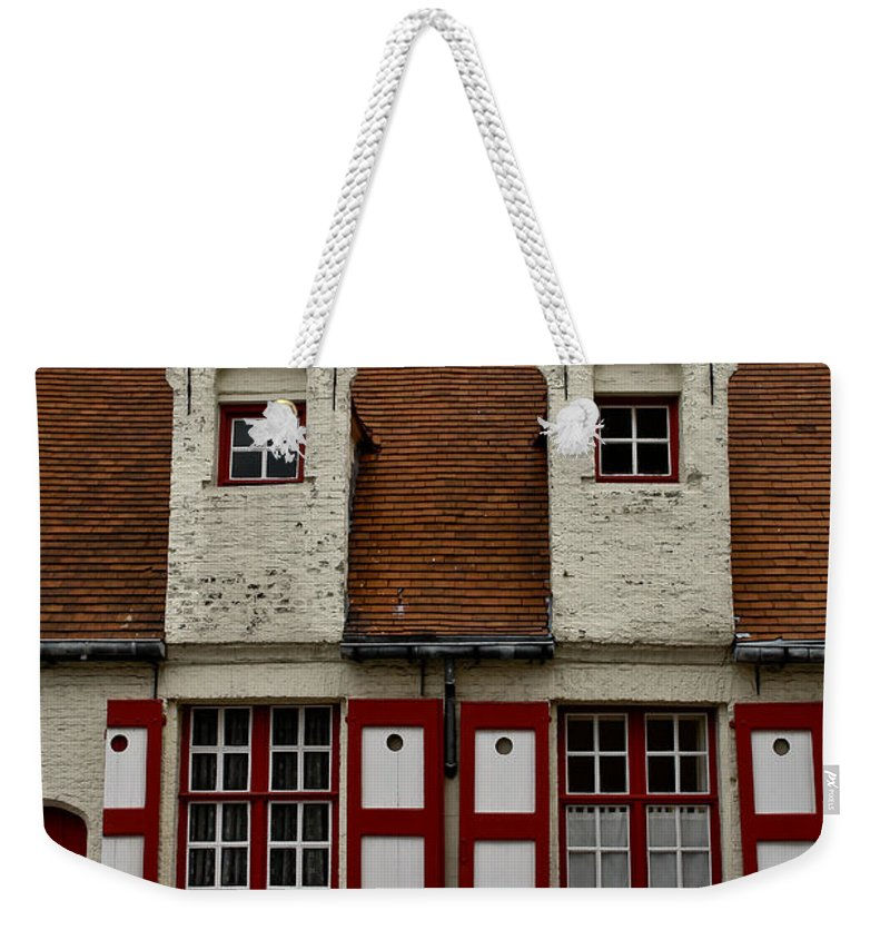 Beguinage House Weekender Tote Bag featuring the photograph Bruges Houses by Brothers Beerens