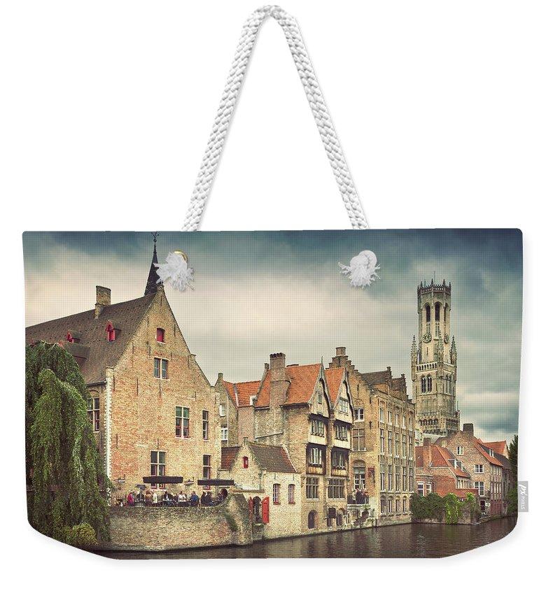 Tranquility Weekender Tote Bag featuring the photograph Brugge by Ellen Van Bodegom