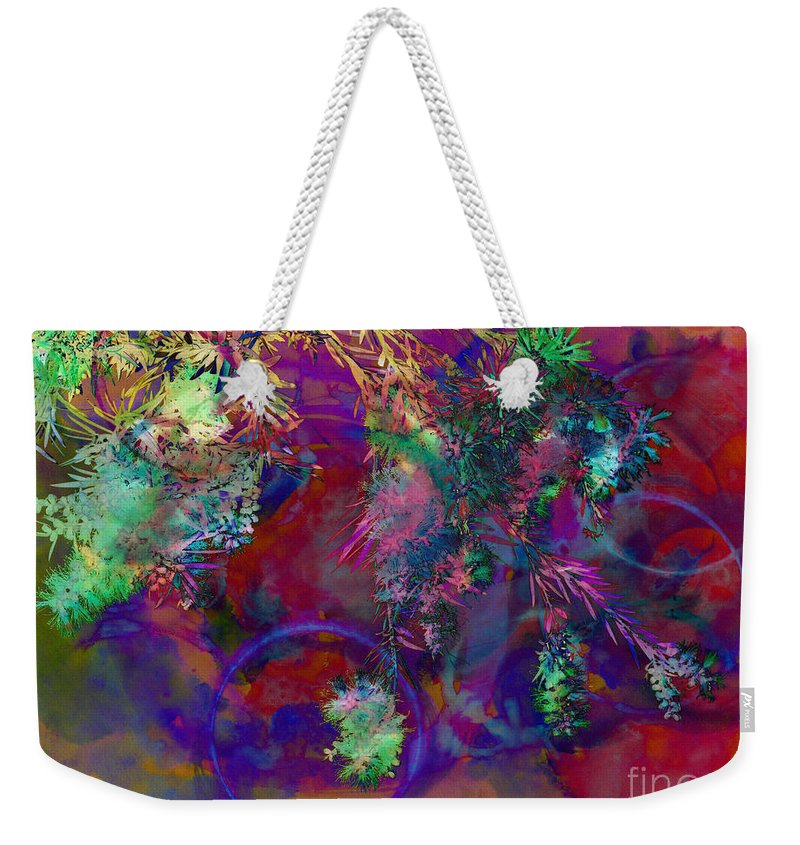 Abstract Weekender Tote Bag featuring the photograph Brushing Circles by Meghan aka FireBonnet
