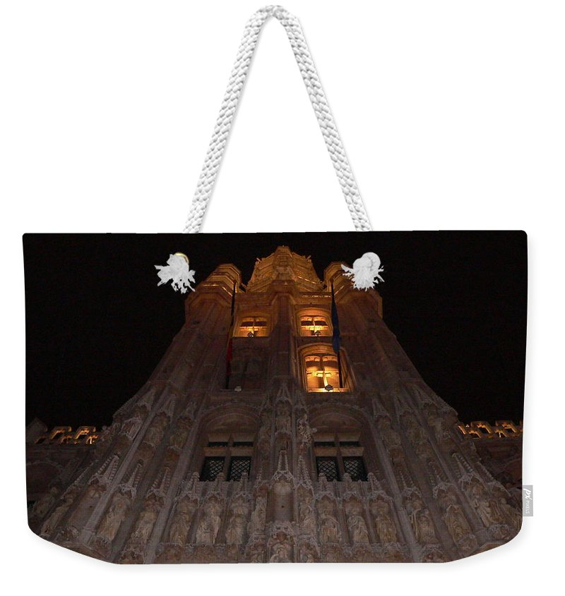 Brussels Town Hall Weekender Tote Bag featuring the photograph Brussels Town Hall by Michael Tokarski