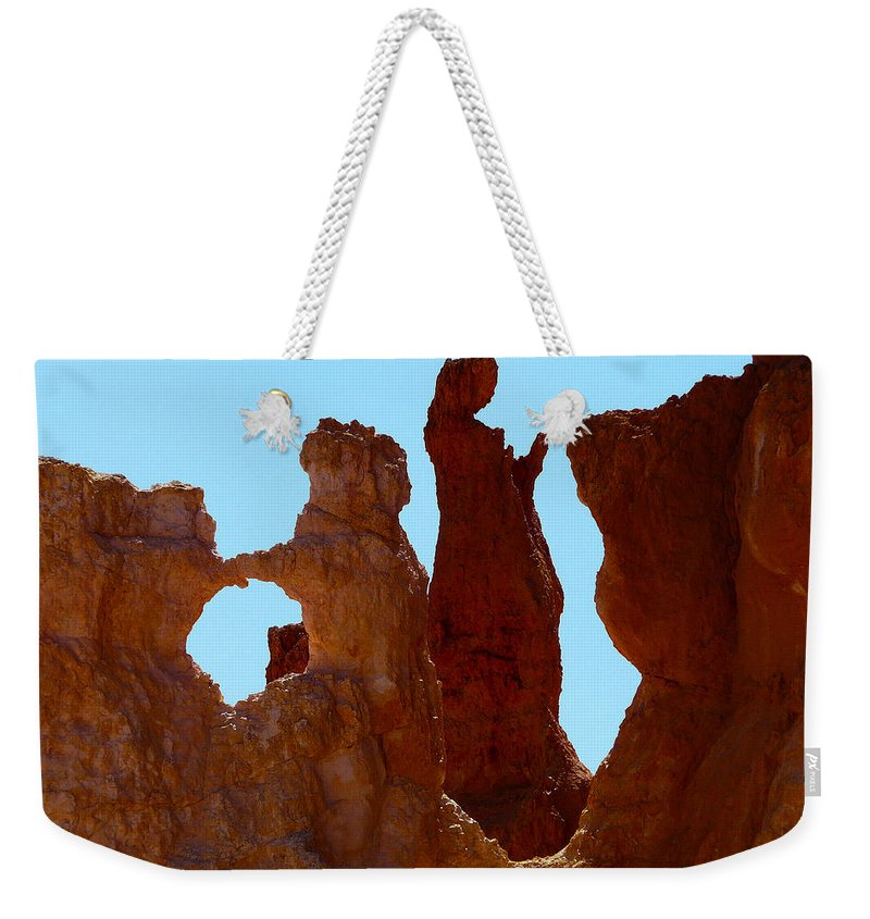 Arizona; Arizona Canyon; Canyon; United States; Usa; Southwest; Clouds; America; American; Beauty; Black; Deep; Desert; Environment; Erosion; Formation; Geology; Grand; Weekender Tote Bag featuring the photograph Bryce Canyon 1 by Ingrid Smith-Johnsen