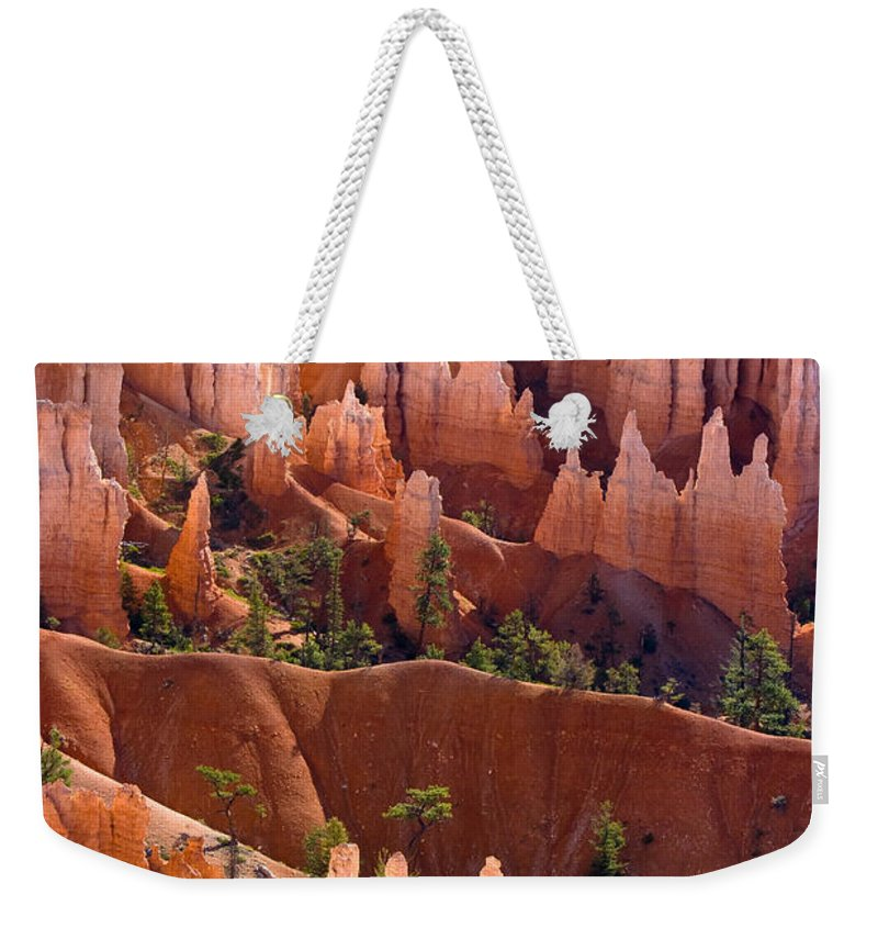 Bryce Canyon Weekender Tote Bag featuring the photograph Bryce Canyon by James BO Insogna