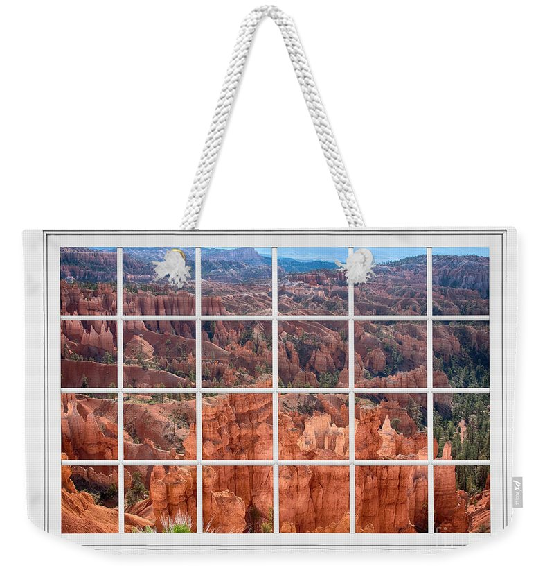 Bryce Canyon Weekender Tote Bag featuring the photograph Bryce Canyon White Picture Window View by James BO Insogna