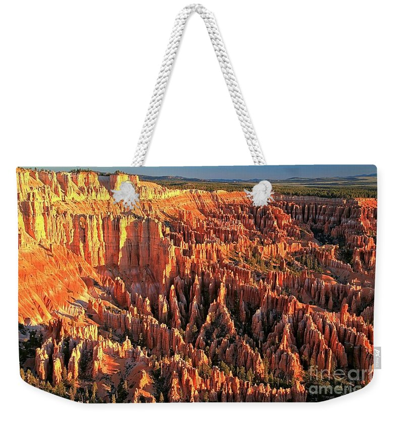 Bryce Canyon National Park Weekender Tote Bag featuring the photograph Bryce Morning Lights by Adam Jewell