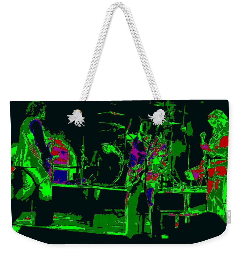 Bachman-turner Overdrive Weekender Tote Bag featuring the photograph Bto And Colors Fly In Spokane 1976 by Ben Upham