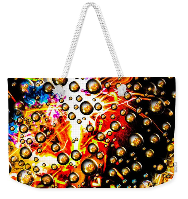 Weekender Tote Bag featuring the photograph Bubble Art by Gerald Kloss