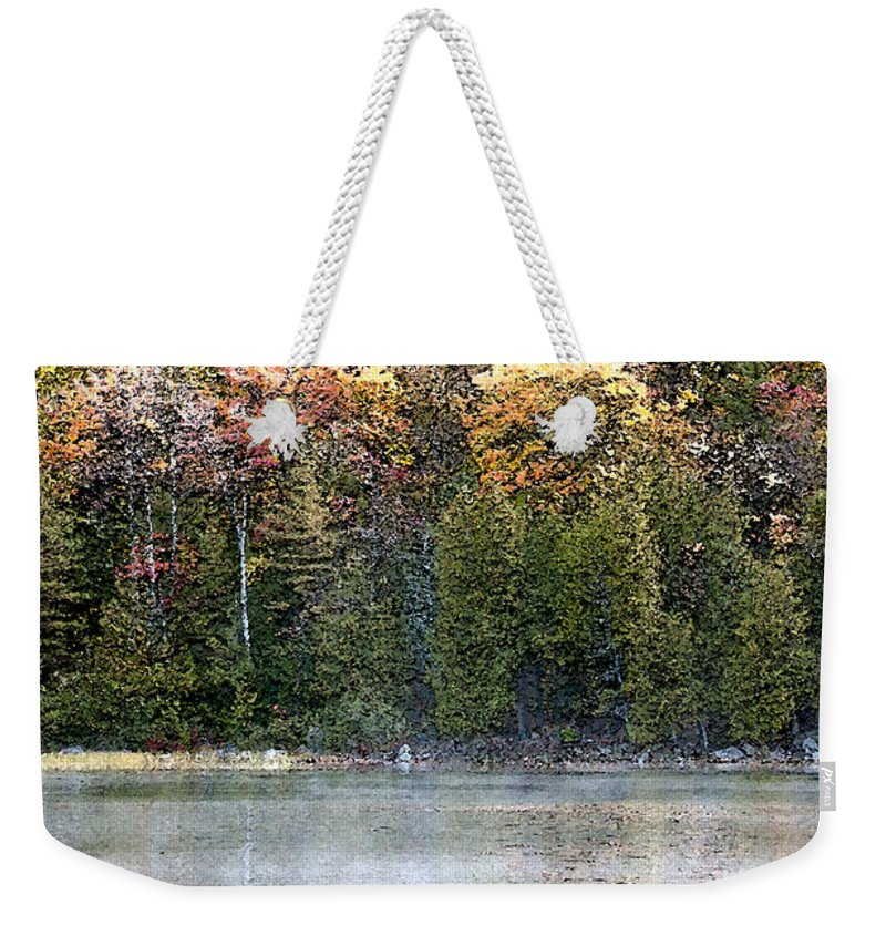 Bubble Pond Weekender Tote Bag featuring the photograph Bubble Pond Acadia National Park by Glenn Gordon