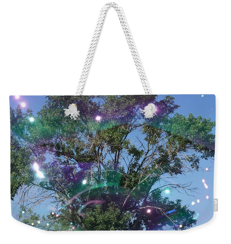 Bubble Tree Weekender Tote Bag featuring the photograph Bubble Tree by Ernie Echols