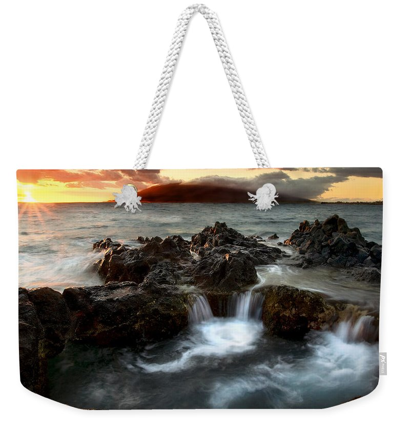 Sunset Weekender Tote Bag featuring the photograph Bubbling Cauldron by Mike Dawson