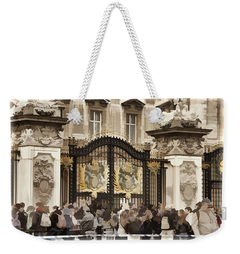 Buckingham Palace Weekender Tote Bag featuring the photograph Buckingham Palace Gates by Jon Berghoff