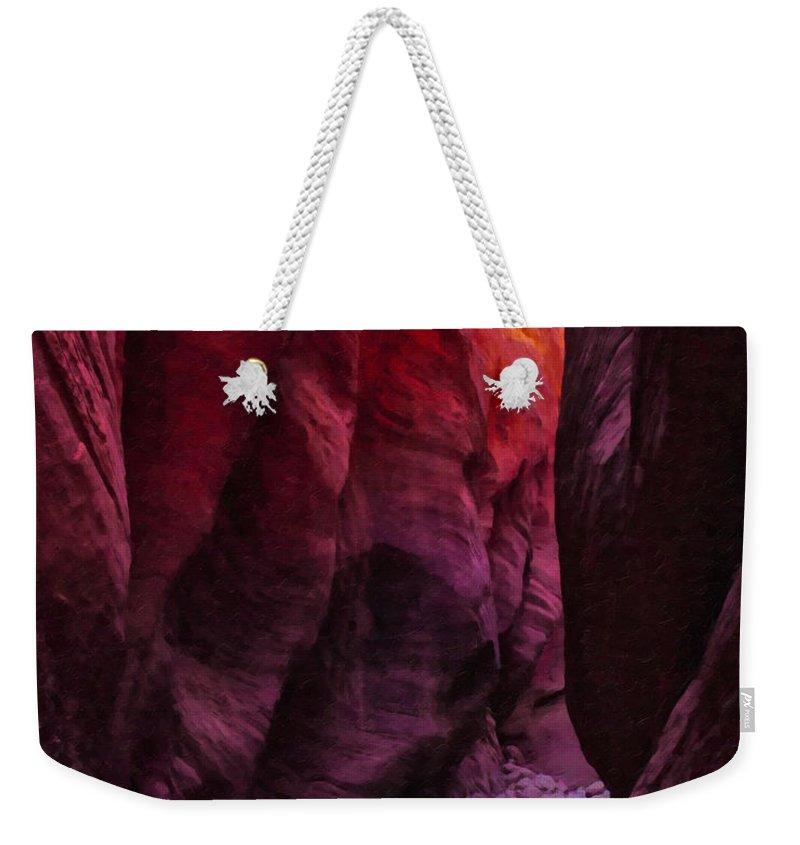 Beautyinnature Weekender Tote Bag featuring the photograph Buckskin Gulch 13 by Ingrid Smith-Johnsen