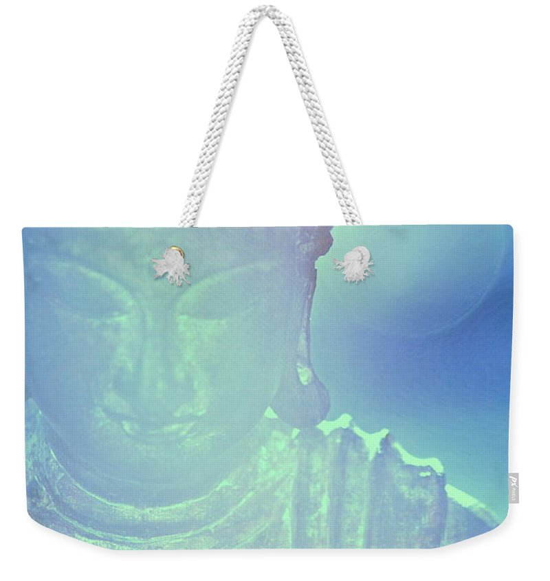 Buddah Weekender Tote Bag featuring the photograph Buddah Bokeh by Cindy Greenstein