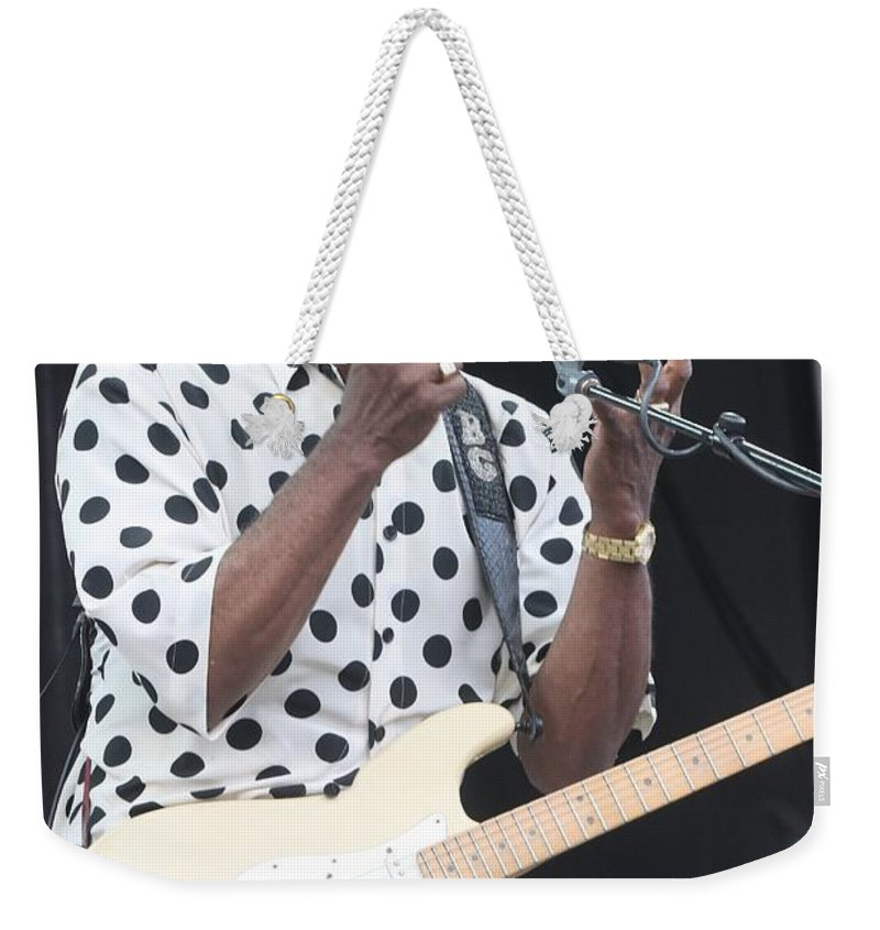 Singer Weekender Tote Bag featuring the photograph Buddy Guy by Concert Photos