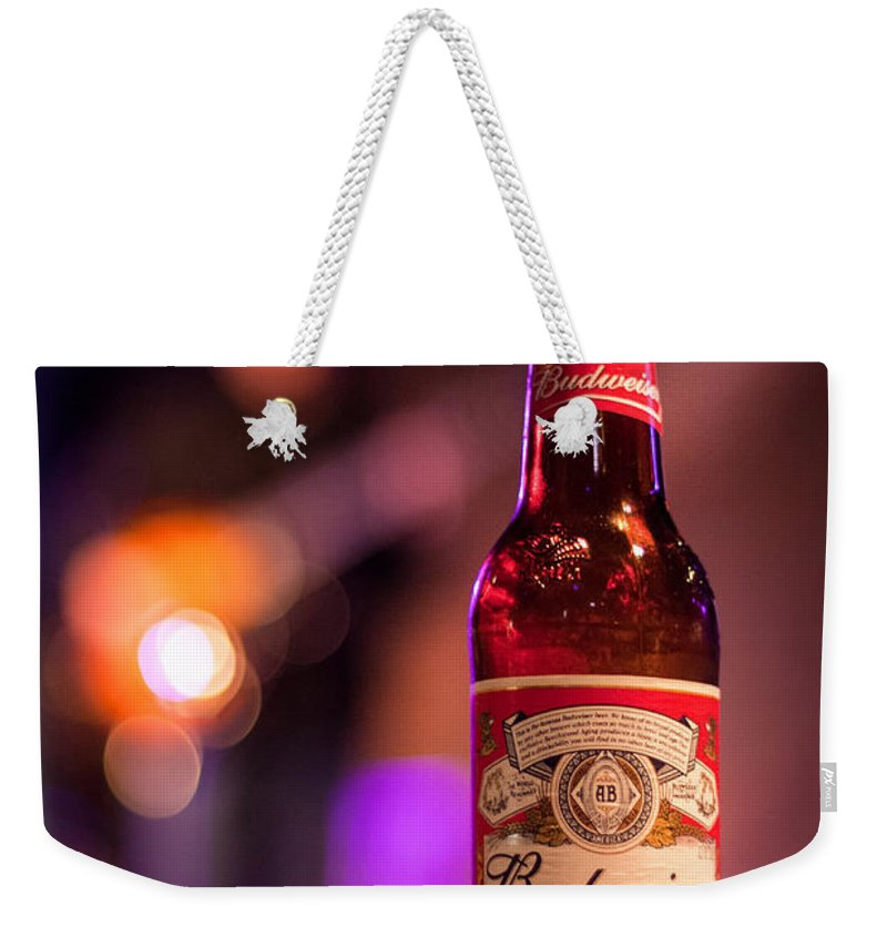Acoustic Weekender Tote Bag featuring the photograph Budweiser Blues by Semmick Photo