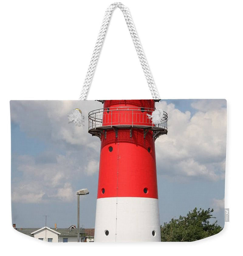 Buesum Weekender Tote Bag featuring the photograph Buesum Lighthouse - North Sea - Germany by Christiane Schulze Art And Photography