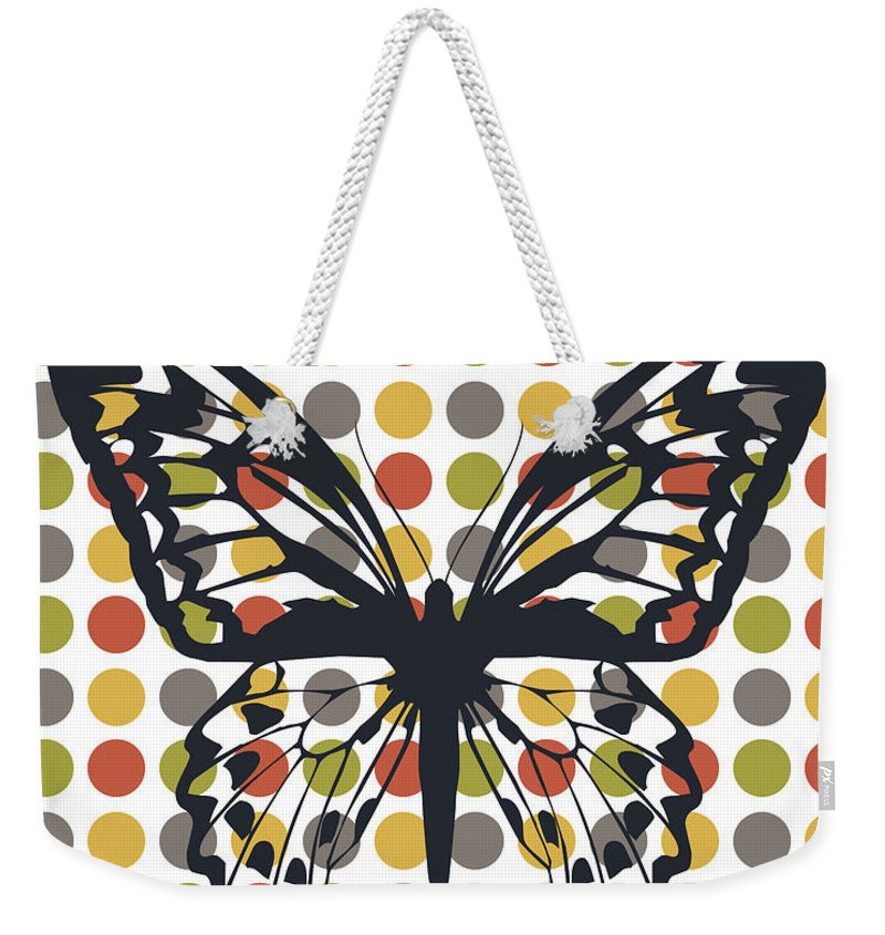 Minimal Weekender Tote Bag featuring the photograph Bug In The Middle by Pati Photography