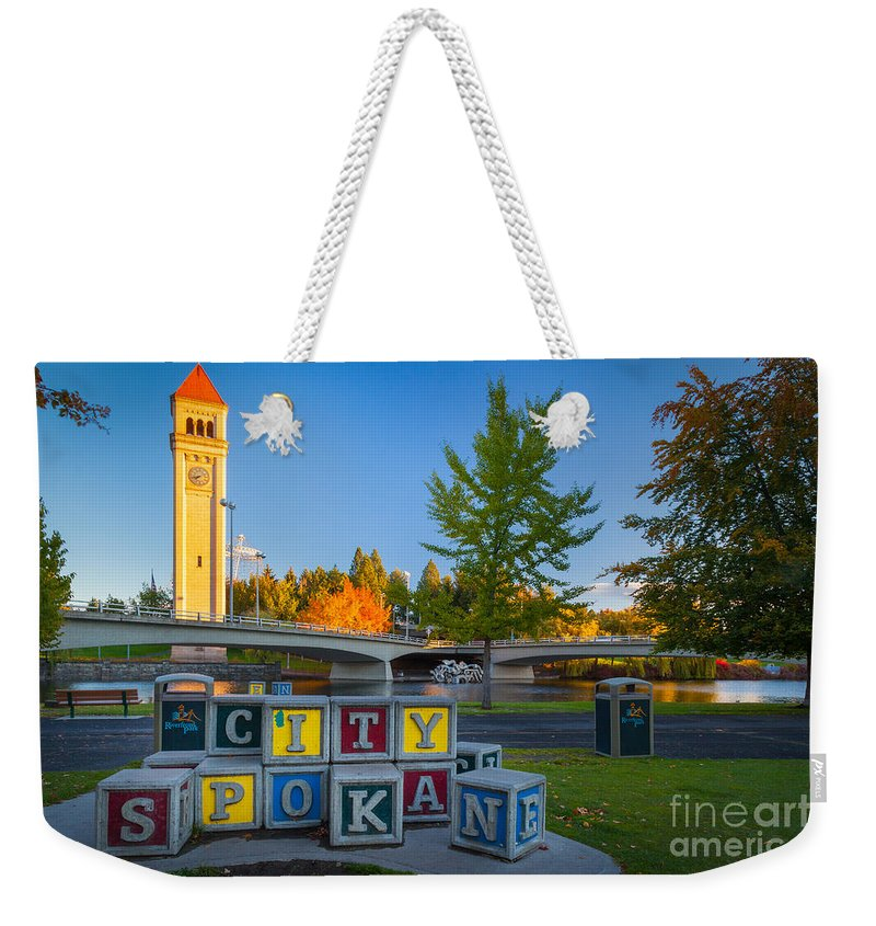 America Weekender Tote Bag featuring the photograph Building The City by Inge Johnsson