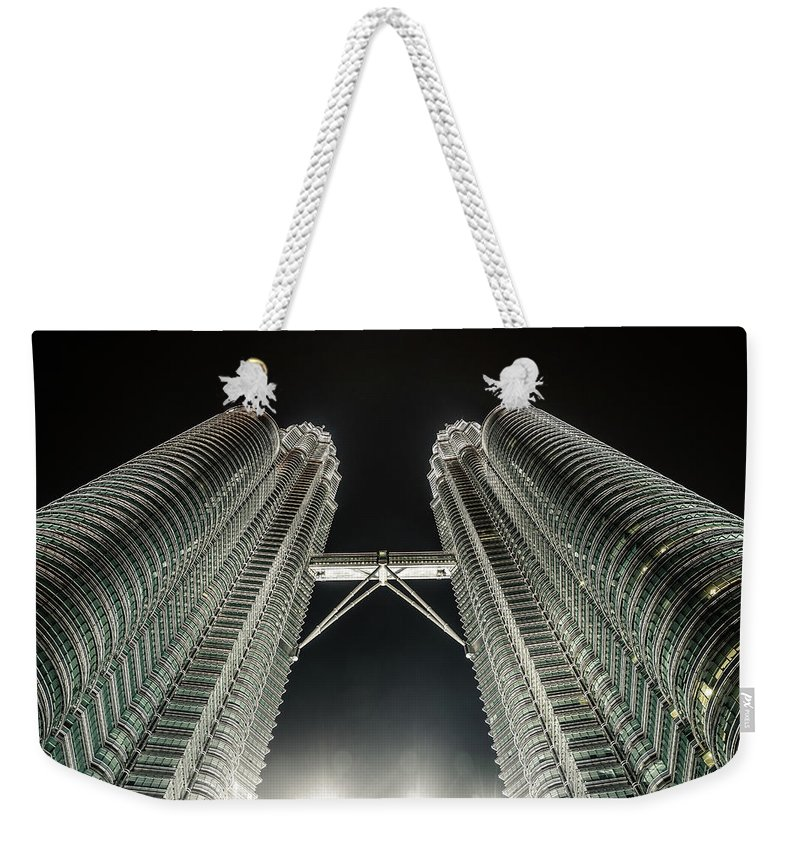 Viewpoint Weekender Tote Bag featuring the photograph Buildings Bridge by Twilightshow